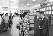 Saigon 17 March 1971 - Bà Nguyễn Văn Thiệu dự lễ khánh thành Thư viện trường QG Nghĩa Tử 2